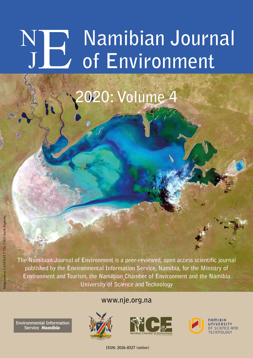 Cover of Namibian Journal of Environment 2020 Volume 4