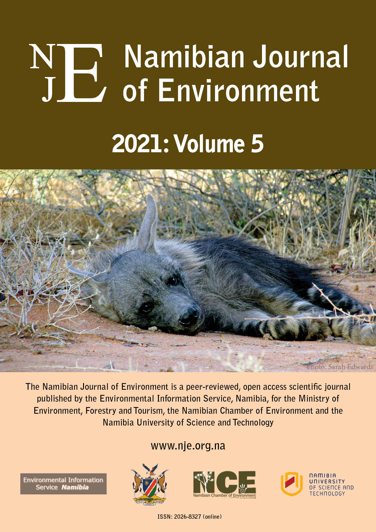 Cover of Namibian Journal of Environment 2021 Volume 5